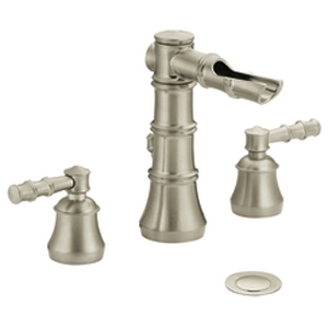 Moen ShowHouse TS881BN Bamboo Two Handle Widespread Lavatory Faucet Trim Brushed Nickel