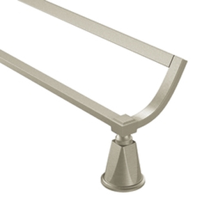Moen ShowHouse YB9322BN Divine Double Towel Bar Brushed Nickel