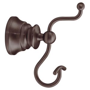 Moen ShowHouse YB9803ORB Waterhill Pivoting Double Robe Hook Oil Rubbed Bronze