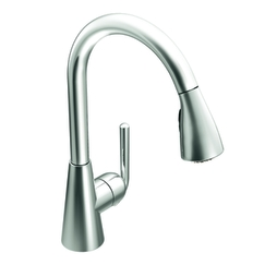 Moen S71708 Ascent Single Handle/Hole Pullout Kitchen Faucet - Chrome