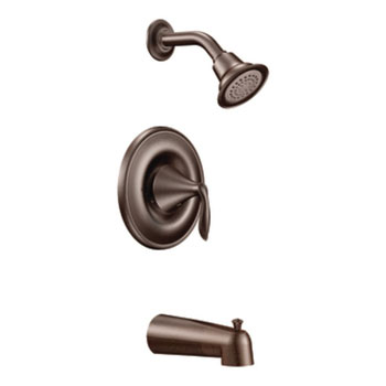Moen T2133ORB Eva Posi-Temp Single Handle Tub/Shower Trim - Oil Rubbed Bronze
