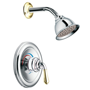Moen T2444CP Monticello Posi-Temp(R) Single Handle Shower Trim Chrome/Polished Brass