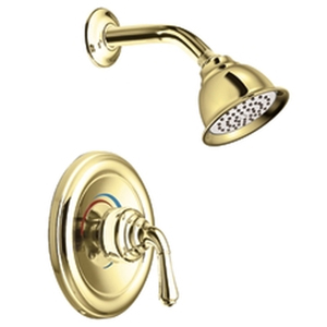 Moen T2444P Monticello Posi-Temp(R) Single Handle Shower Trim Polished Brass
