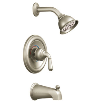 Moen T2449BN Monticello Posi-Temp(R) Single Handle Tub/Shower Trim - Brushed Nickel