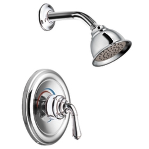 Moen T2524 Monticello Single Handle Standard Shower Trim - Chrome