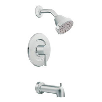 Moen T2703 Level Posi-Temp(R) Single Handle Tub/Shower Trim Chrome