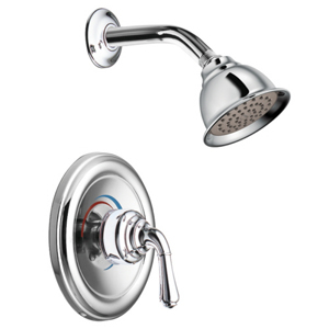 Moen T3124 Monticello Single Handle Shower Trim - Chrome