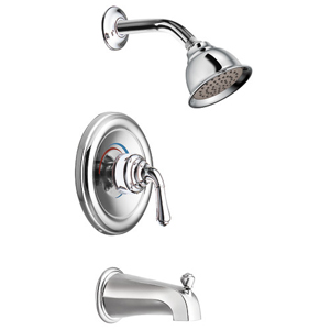 Moen T3129 Monticello Single Handle Moentrol Tub/Shower Trim - Chrome