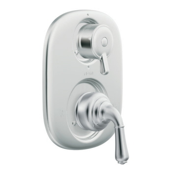 Moen T4110 Monticello Moentrol Shower Valve with Built-in Three Function Transfer Valve Trim Chrome