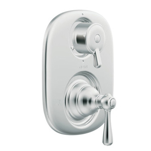 Moen T4111 Kingsley Moentrol Shower Valve with Built-in Three Function Transfer Valve Trim - Chrome
