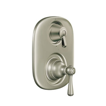 Moen T4111AN Kinglsey Moentrol Shower Valve with Built-in Three Function Transfer Valve Trim - Antique Nickel