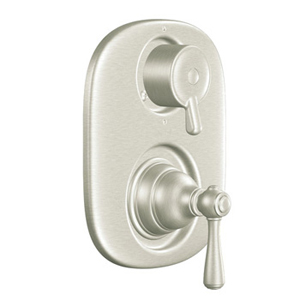 Moen T4111BN Kingsley Moentrol Shower Valve with Built-in Three Function Transfer Valve Trim - Brushed Nickel