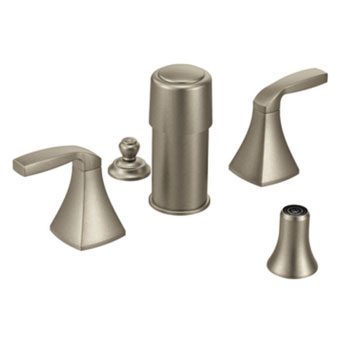 Moen T5269BN Voss Two Handle Bidet Faucet - Brushed Nickel