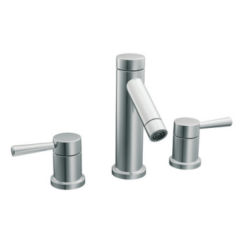 Moen T6110 Level Two Handle Widespread Lavatory Trim - Chrome