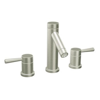 Moen T6110BN Level Two Handle Widespread Lavatory Faucet Trim - Brushed Nickel
