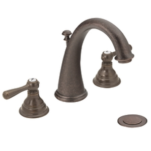 Moen T6125ORB Kingsley Two-Handle Widespread Lavatory Faucet Trim - Oil Rubbed Bronze
