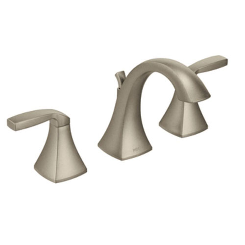 Moen T6905BN Voss Two Handle High Arc Widespread Lavatory Faucet Trim - Brushed Nickel