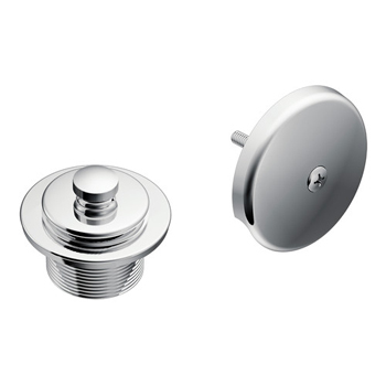 Moen T90331 Tub Drain Half Kit with Push-N-Lock Drain Assembly Chrome