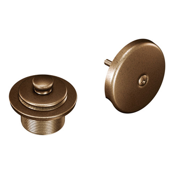 Moen T90331AZ Tub Drain Half Kit with Push-N-Lock Drain Assembly Antique Bronze