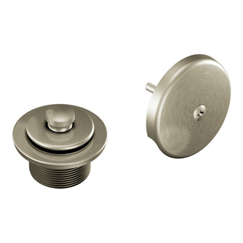 Moen T90331bn Tub Drain Half Kit With Push N Lock Drain