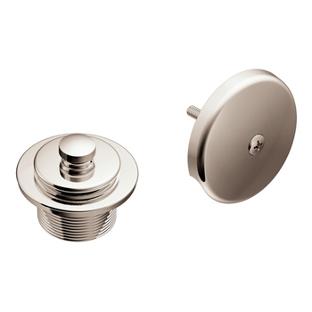 Moen T90331NL Tub Drain Half Kit with Push-N-Lock Drain Assembly Nickel