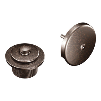 Moen T90331ORB Tub Drain Half Kit with Push-N-Lock Drain Assembly Oil Rubbed Bronze