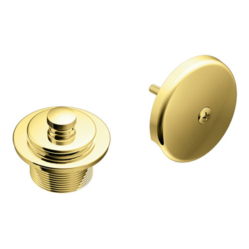 Moen T90331P Tub Drain Half Kit with Push-N-Lock Drain Assembly - Polished Brass
