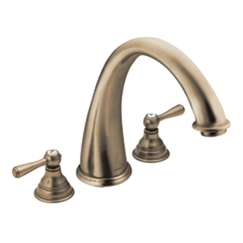 Moen T920AZ Kingsley Two-Handle Roman Tub Faucet Trim Antique Bronze