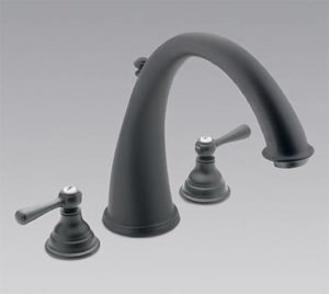 Moen T920WR Kingsley Two-Handle Roman Tub Faucet Trim Wrought Iron
