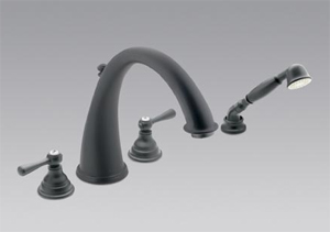 Moen T922WR Kingsley Roman Tub Faucet Trim with Hand Shower Wrought Iron
