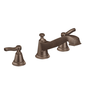Moen T923ORB Rothbury Two-Handle Roman Tub Faucet Trim Oil Rubbed Bronze