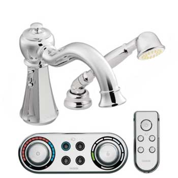 Moen T9322 Vestige High Arc Roman Tub Faucet Includes Hand Shower - Chrome