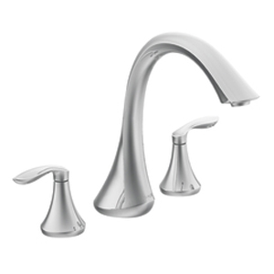 Moen T943 Eva Two-Handle Roman Tub Faucet Trim Chrome
