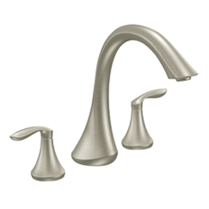 Moen T943BN Eva Two-Handle Roman Tub Faucet Trim Brushed Nickel