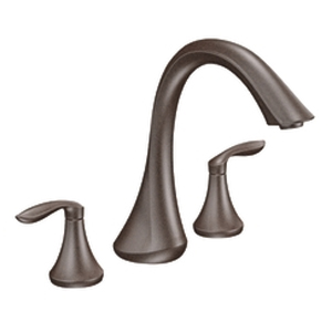 Moen T943ORB Eva Two-Handle Roman Tub Faucet Trim Oil Rubbed Bronze