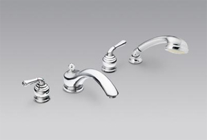Moen T953 Monticello Roman Tub Faucet Trim with Hand Shower Chrome