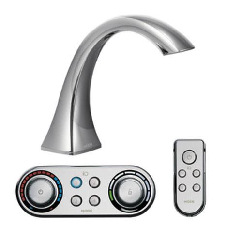 Moen T9693 Voss High Arc Roman Tub Faucet Chrome Faucetdepotcom
