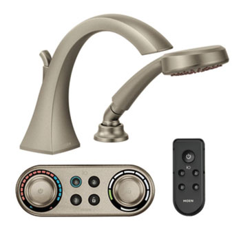 Moen T9694BN Voss ioDIGITAL Roman Tub Trim Only with Handshower - Brushed Nickel