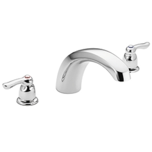 moen t990 chateau two handle roman tub faucet trim chrome