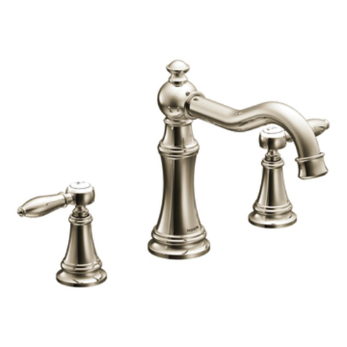 Moen TS22103NL Weymouth Two Handle High Arc Roman Tub Faucet - Nickel