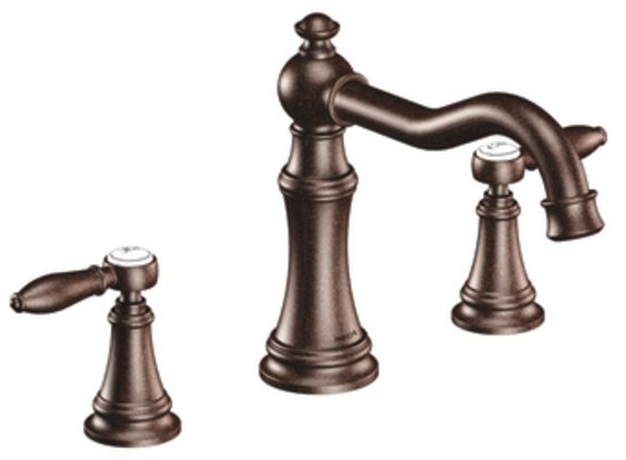 Shop Classic High Spout Oil Rubbed Bronze Bathroom Faucet: Moen TS22103ORB Weymouth Double Handle Roman Tub Filler