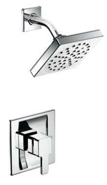 Moen TS2712 90 Degree Single Handle Posi-Temp Pressure Balanced Rainshower Showerhead - Chrome
