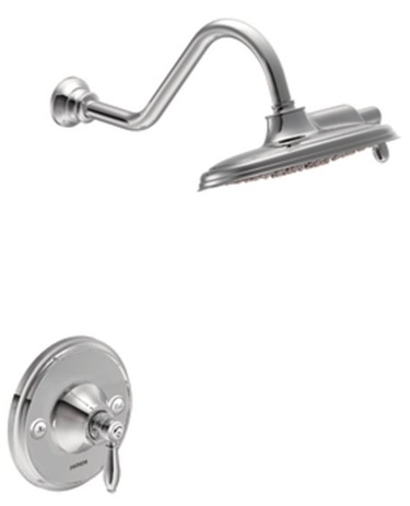 Moen TS32102 Weymouth Posi-Temp Rainshower Showerhead with Trim - Chrome