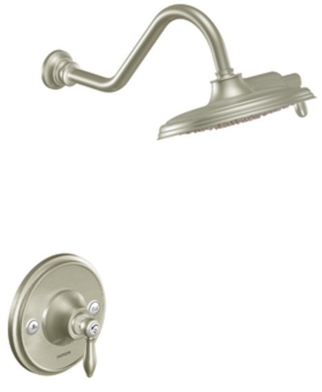 Moen TS32102EPBN Weymouth Posi-Temp Shower Only with Rainshower Showerhead - Brushed Nickel