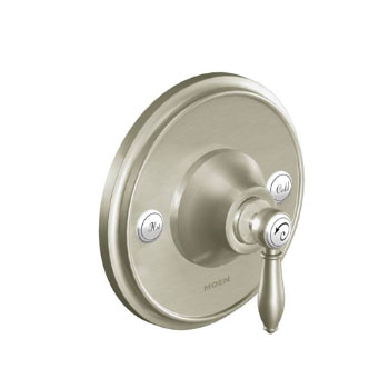 Moen TS3210BN Weymouth Single Handle Posi-Temp Pressure Balanced Valve Trim Only - Brushed Nickel