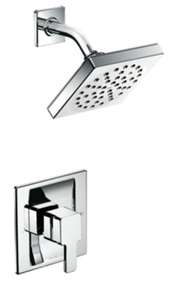 Moen TS3715 90 Degree Volume Control Shower Trim with Rainshower - Chrome