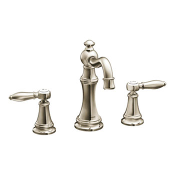Moen TS42108NL Weymouth Lavatory Two Handle High Arc Faucet - Nickel