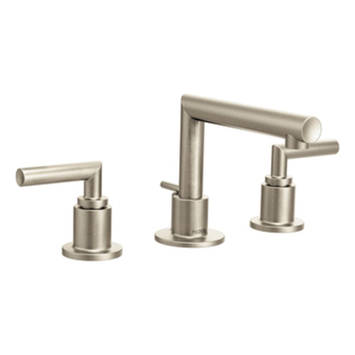 Moen TS43002BN Arris Two Handle Widespread Lavatory Faucet Trim - Brushed Nickel