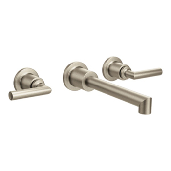 Moen Ts43003bn Arris Two Handle Wall Mount Lavatory Faucet Trim Brushed Nickel