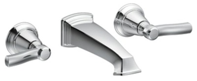 Moen TS6204 Rothbury Lavatory Double Handle Wall Mounted Faucet - Chrome